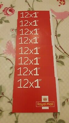 96 x First Class Stamps. 8 books of 12. 1st class. Unused and Genuine.