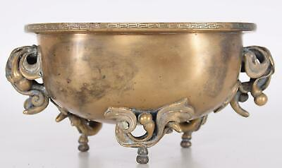 Late Ming Early Qing Chinese Bronze Leaf & Berry Handles Incense Burner XUANDE