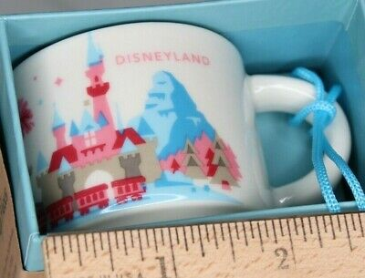 Starbucks Disney DISNEYLAND 2oz mug ORNAMENT 1st Edition, YAH You Are Here, NEW
