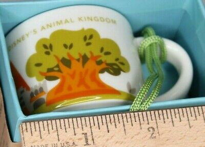 Starbucks Disney's ANIMAL KINGDOM 1st Edition 2oz mug ORNAMENT, YAH You Are Here