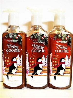Bath Body Works MERRY COOKIE Deep Cleansing Hand Soap NEW x 3