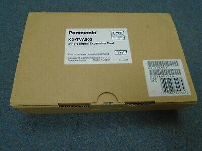 NEW Panasonic KX-TVA50 Voice Mail System KX-TVA503 2 Port DPITS Expansion Card