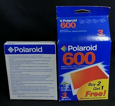Lot of 4 Polaroid 600 Instant Film 10 Count Sealed Exp 4/04 & 11/03 40 photos