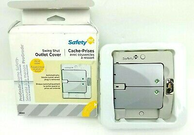 Safety 1st Swing Shut Outlet Cover Model No. 48503 2-Toned Grey