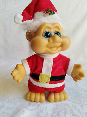 20 cm Christmas Troll in Santa outfit in very good condition   ITB 1991