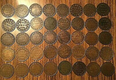 1858 To 1920 Complete Collection Of Canada Large Cents (40 Coins)