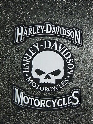 Harley-Davidson Motorcycle - Harley Davidson Willie G Skull Patch Set