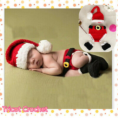 Christmas Series Newborn Baby Crochet Knit Costume Photography Prop Outfit AU