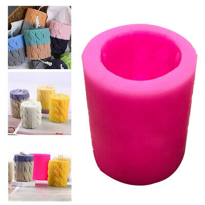 3D Pillar Silicone Candle Mold DIY Soap Clay Making Cake Chocolate Decor Mould