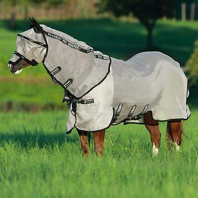 Rambo Fly Buster With Vamoose Horse Rug - Oatmeal Black All Sizes