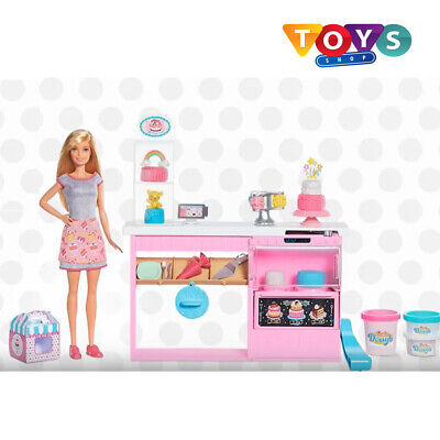 Barbie Cake Decorating Playset With Doll & Accessories Barbie Dolls Set Cooking