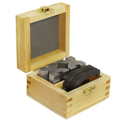 V Blocks And Clamps Set 1-5/8 Inch x 1-1/4 Inch x 1-1/4 Inch With Wooden Case