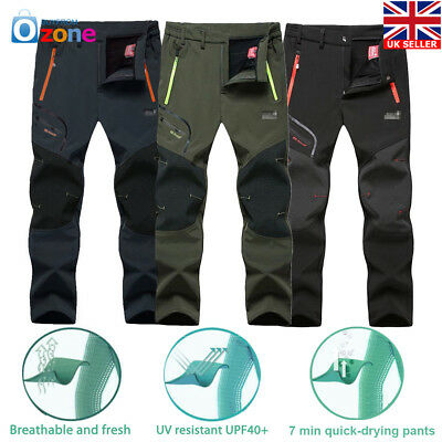 Mens Outdoor Soft shell Camping Tactical Cargo Pants Combat Hiking Trousers