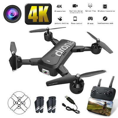 Drone FPV WIFI 1080P 4K HD Double Wide-Angle Camera  2 Battery RC Quadcopter