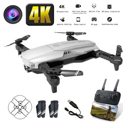 Drone FPV WIFI With 1080P 4K HD Camera APP Headless Mode Foldable 2 Batteries