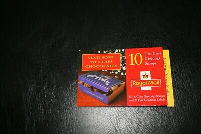 5/1/98 Royal Mail Barcode Chocolate Design Booklet KX11 Greetings Stamps10 x1st