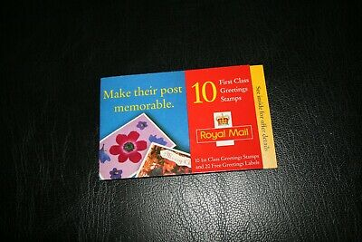 3/8/98 Royal Mail Barcode Create a Card Design Booklet KX12 Greetings 10 x1st