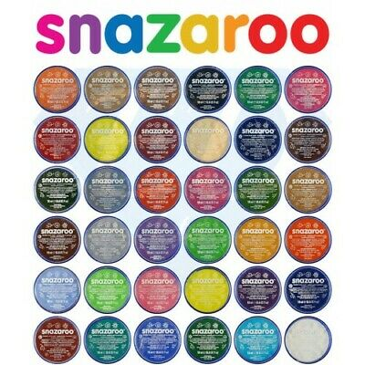 Snazaroo Face Paint & Body Make Up Classic Colours Stage Fancy Dress 18ml