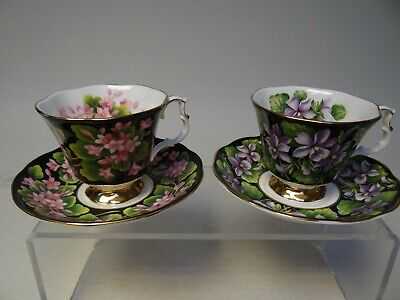 Royal Albert Bone China, Two sets of Cups & Saucers, Provincial Flowers (A)
