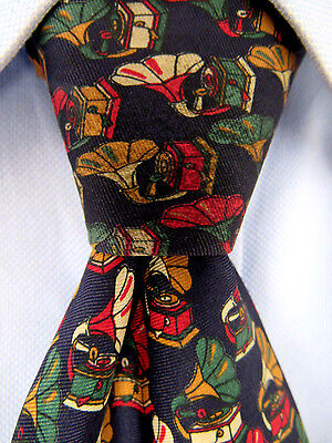 Men's William Blue Silk Wide Tie Hand Made in Italy A23545