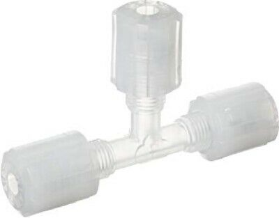 Parker GTC-4 Tee Connector PFA PTFE ETFE Compression Fitting, 1/4""