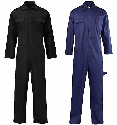 Mens Long Sleeve Coverall Overall Adults Mechanic Work Wear Boiler Suit