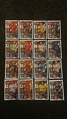 Match Attax 2019/20 19/20 Full Set Of Mvp Cards - All 16 Ucl Mvp Cards - Messi