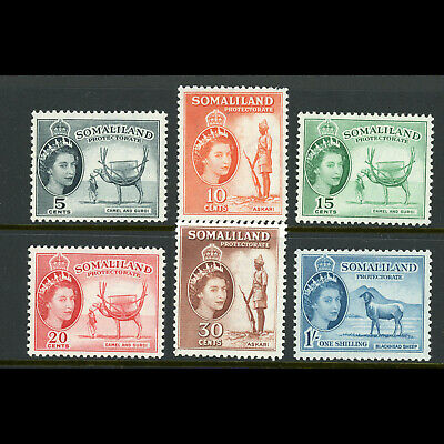 SOMALILAND 1953 Values to 1s (6). Mint Never Hinged. (WE208)