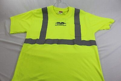 High Visibility Large Cornerstone reflective shirt H&B Bridge Construction