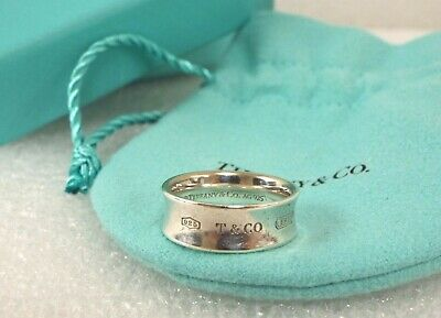 Authentic Tiffany & Co. 1837 Sterling Silver Ring, Size 6.5