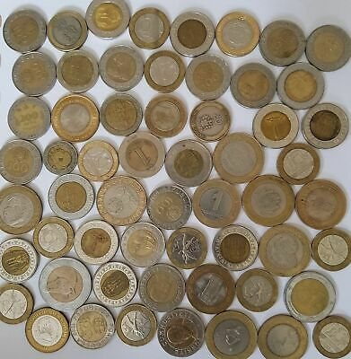 Bi-metallic coins from across the world. Africa, Asia, South America bulk lot