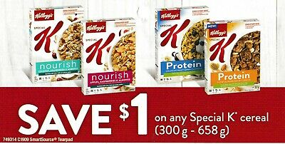save on Kellogg's SPECIAL K cereal coupons + Bonus [Canada]