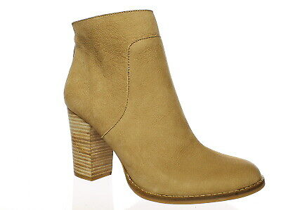 Lucky Brand Women/'s Liesell Side Zip Fashion Leather Ankle Booties Sesame