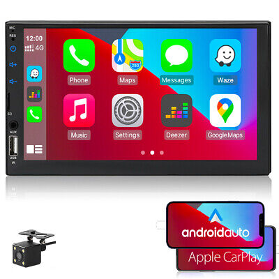 7''2 DIN Car MP5+Camera Touch FM Player Stereo Mirroring Radio DVR IN Bluetooth
