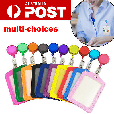 10x Retractable Lanyard ID Badge Opal Card Holder Business Security Pass