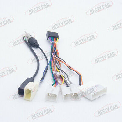 Toyota Car Radio DVD Stereo Power Harness Wiring USB Wire for 9/10.1'' Head Unit