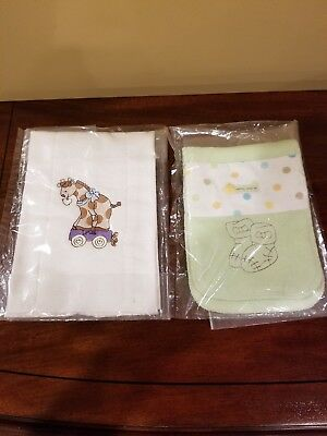 Embroidered Burp Cloths ( Set of 2 )