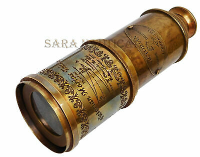 Nautical Victorian Maritime Telescop 19'' Decorative Brass Antique Marine London