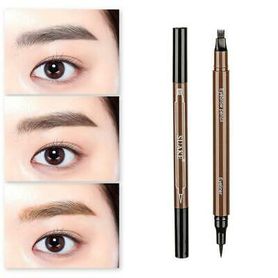 Waterproof Makeup 2 IN 1 Double-End Black Eyeliner Pen Eyebrow Pencial