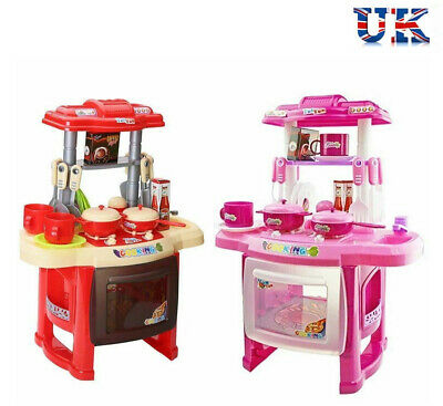Kids Kitchen Cooking Food Toy Play Utensil Set for Child Boys Girls Pretend Gift