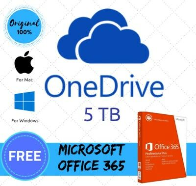 One Drive 5Tb+ 365 New 5 Device + Google Drive Unlimited Existing Acc Buy 3 Win1