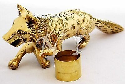 Fox Head Style Solid Brass Handle For Wooden Walking Stick & Vintage Canes Gift