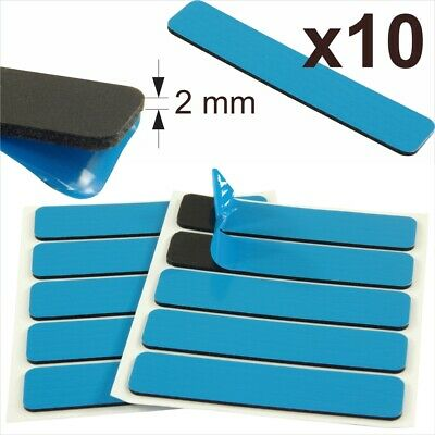 10x Car Number Plate Sticky Pads Double Sided Adhesive Fixing 2mm Tape Strips