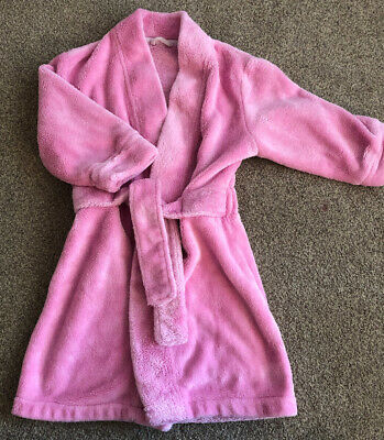 Girls Mother Care Pink Fluffy Dressing Gown Age 18-24 Months 1.5-2 Years