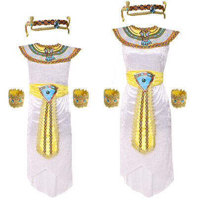 Egyptian Queen Costume Cleopatra Ladies Girls World Book Day Fancy Dress Costume