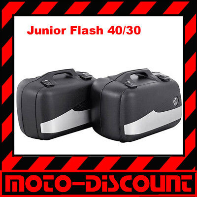 Bagages Sacoches Hepco & Becker Junior Flash Enduro 40/30 Couleur : Sw / Argent