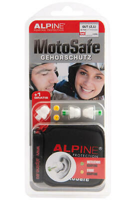 Alpine Motosafe Bouchons D'Oreilles / Protection Auditive le Bruit Sport Course
