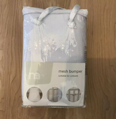 Mothercare Mesh Bumper Cot Cotbed Nursery Bedding White BNWT