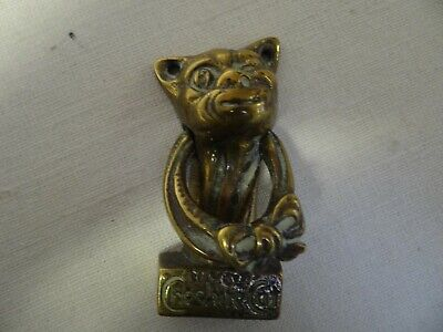 Brass Vintage Cheshire Cat Door Knocker with Strike Plate