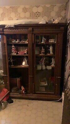 Stunning Antique Library Bookcase Glazed Doors